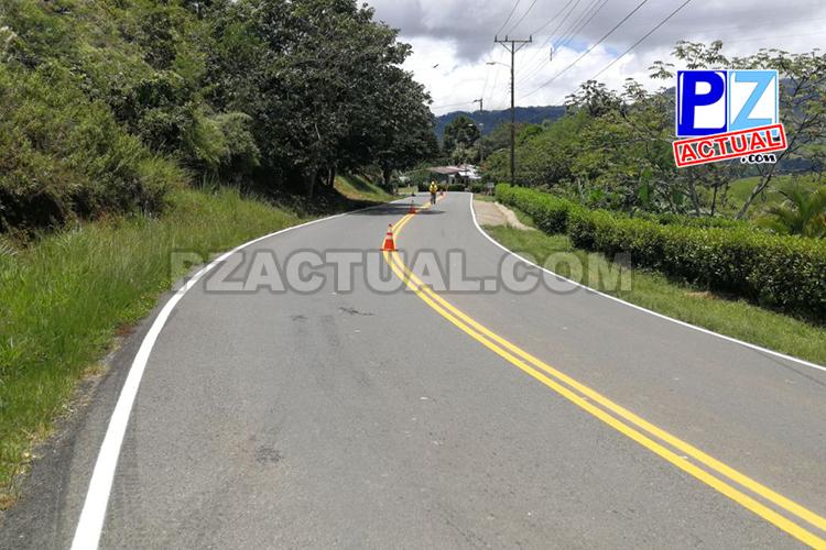 Continúan los trabajos de demarcación en la ruta San Isidro-Dominical.