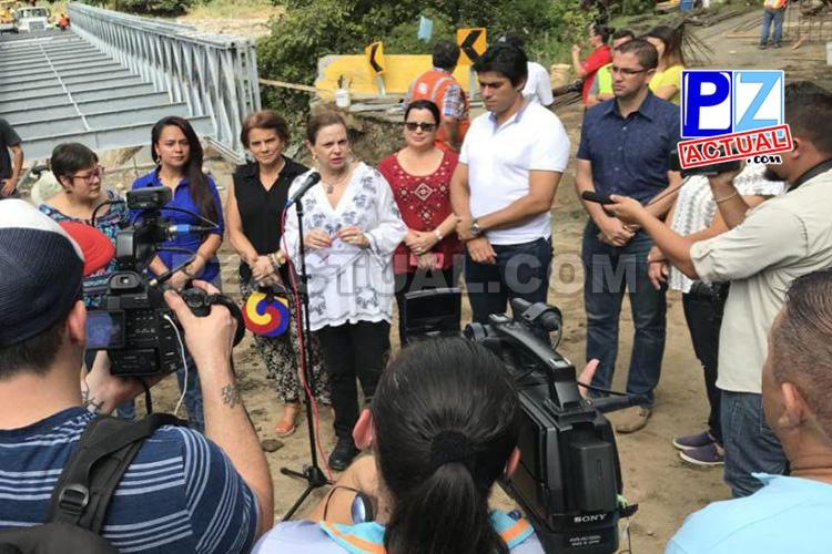 Vicepresidenta Chacón inspeccionó atención de la emergencia en Pérez Zeledón, Buenos Aires y Osa.
