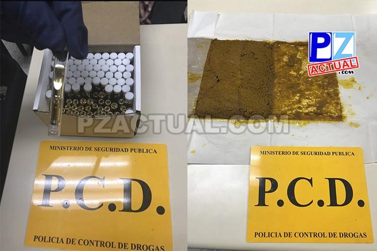 PCD captura a extranjero con pipetas que contenían extracto de marihuana y tubos de ensayo con droga en su interior.