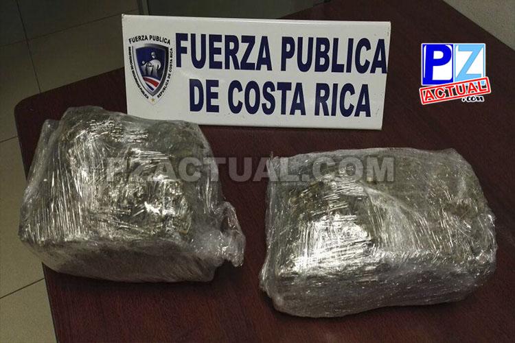 Van 19 veces que caen con droga en San Isidro de El General.