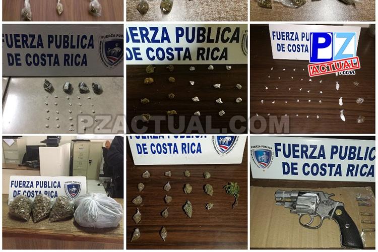 Fuerza Pública mantiene intensas acciones contra la venta de droga en el Pacífico Central.