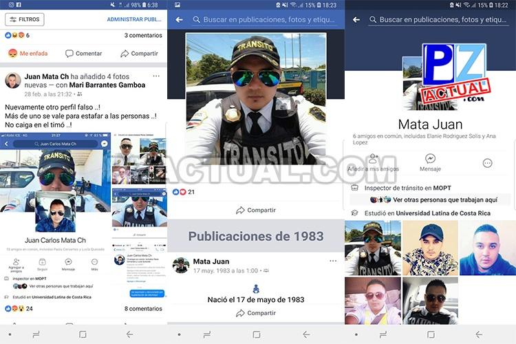 Utilizan fotografías de oficial de Tránsito de Pérez Zeledón para estafar con licencias.