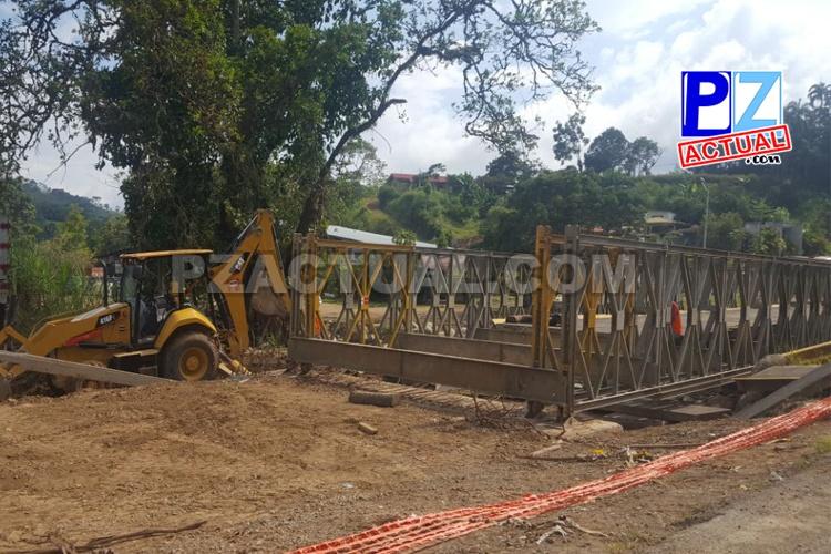 CONAVI trabaja en puente provisional en El Hoyón para luego dar inicio a construcción de puente definitivo.