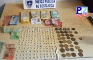 Aprehenden a presunto vendedor de drogas con más de 900 mil colones en efectivo en Parrita.