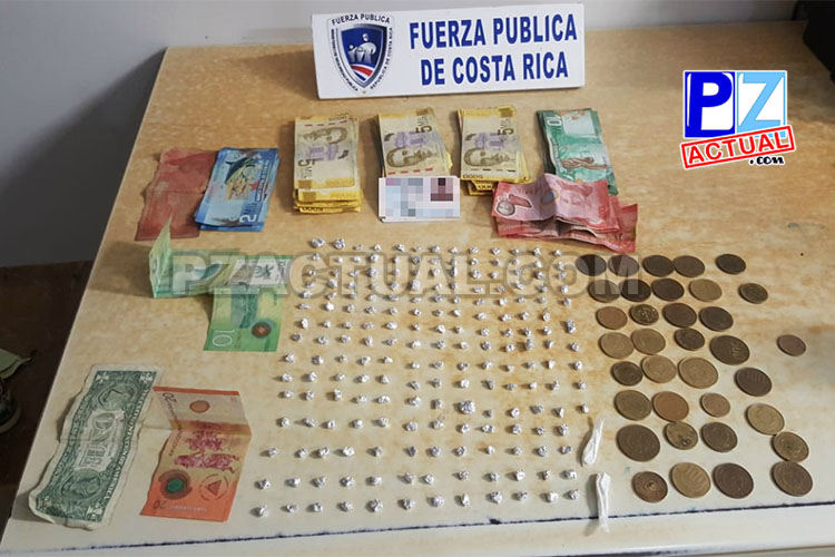 Detienen en Parrita a presunto vendedor de drogas con más de 900 mil colones en efectivo.