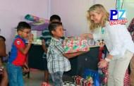 Navidad se adelantó para niños del pueblo Ngöbe, ubicado en las cercanías de la frontera con Panamá.