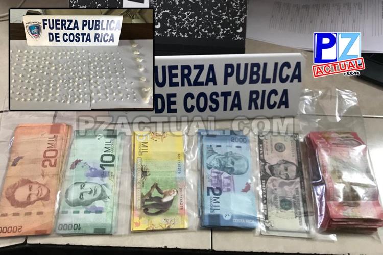 Acciones policiales en Quepos permiten detener a presunto vendedor de droga con más de 300 dosis.