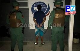 Policía de Fronteras en Golfito detuvo a  sujeto requerido por presuntamente cometer delitos en flagrancia.