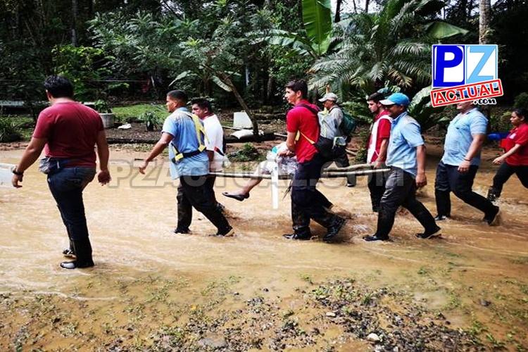 CNE realizó evacuación preventiva en el sector de Lagarto y La Lucha en Río Claro.