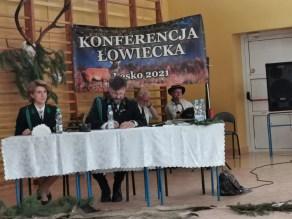 dr inż. Paweł Lisiak podczas konferencji łowieckiej