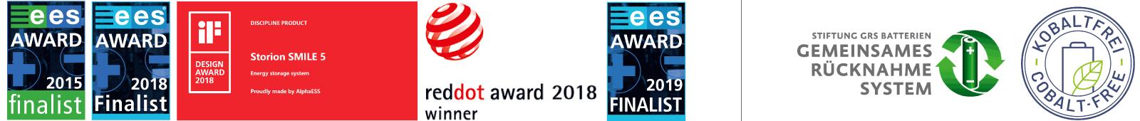 Auszeichnungen Alpha EES Speichersysteme