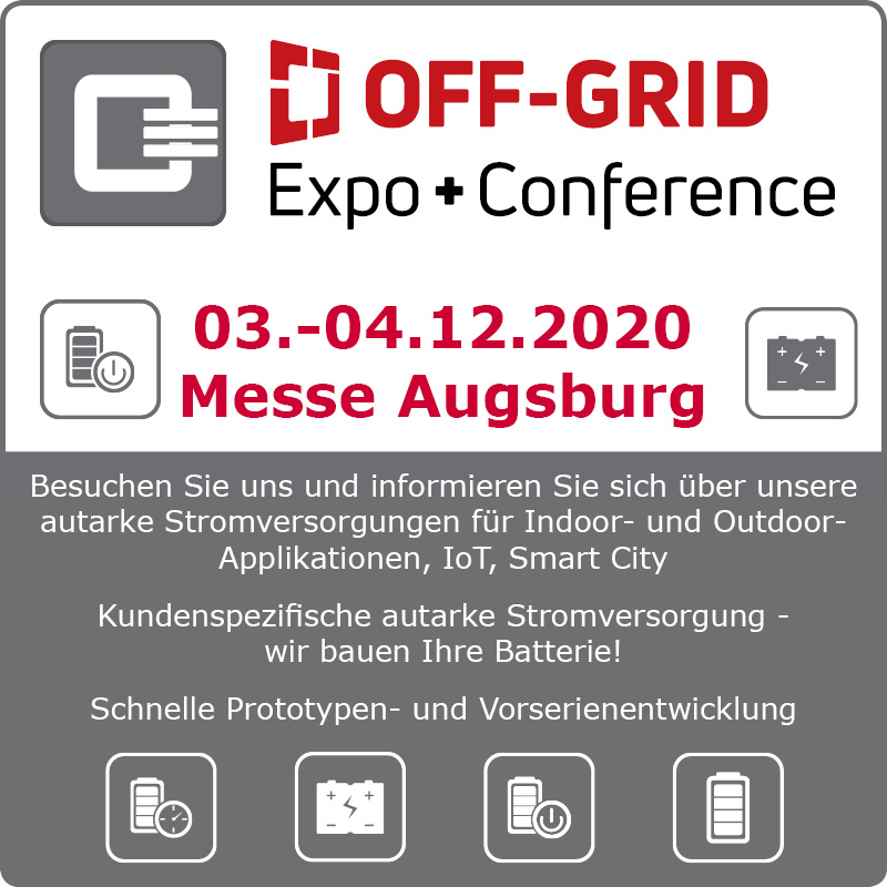 OFF GRID Expo Conference Augsburg autarke Stromversorgung Q3