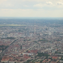 Berlin - Alexanderplatz from the Air