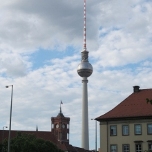 Berlin City Hall Tower and the TV Tower