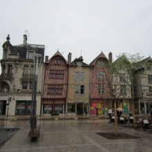 Medieval Homes Slightly Tilting in Troyes