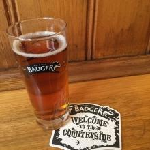 A half pint of Badger Bitter at the Ship and Shovell