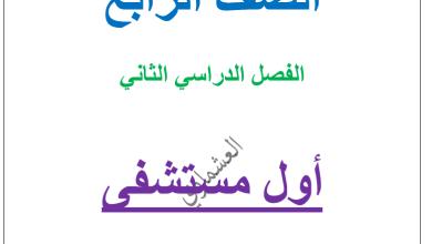 Photo of مذكرة العشماوي عربي للصف الرابع اول مستشفى الفصل الثاني 2017-2018