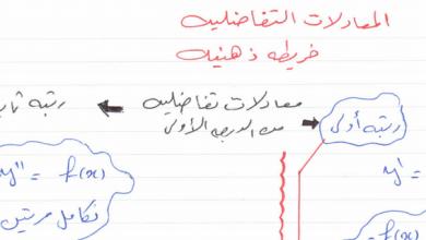 Photo of حل الوحدة السادسة المعادلات التفاضلية