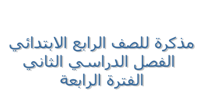 Photo of الصف الرابع مذكرة اسلامية الفترة الرابعة مدرسة أم عطية الأنصارية