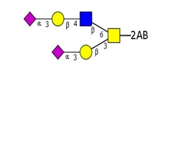 Disialylated core 2 glycan