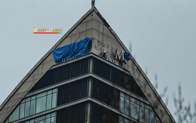 """Bakıda """"Trump Tower""""in adı sökülür  -  Fotolar"""