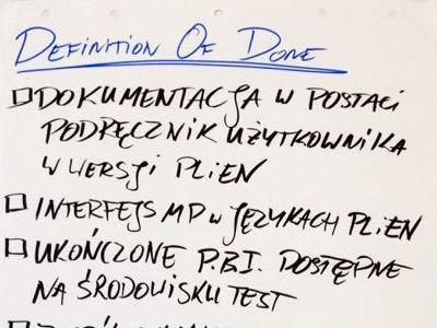 Definition of Done a kilka Zespołów Scrum