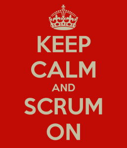 keep calm and scrum on