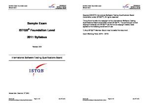 ISTQB Foundation Level Sample Exam V2.6 EN