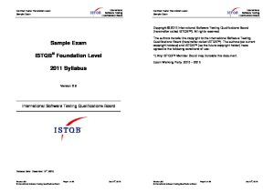 ISTQB Foundation Level Sample Exam V2.6 Answers EN