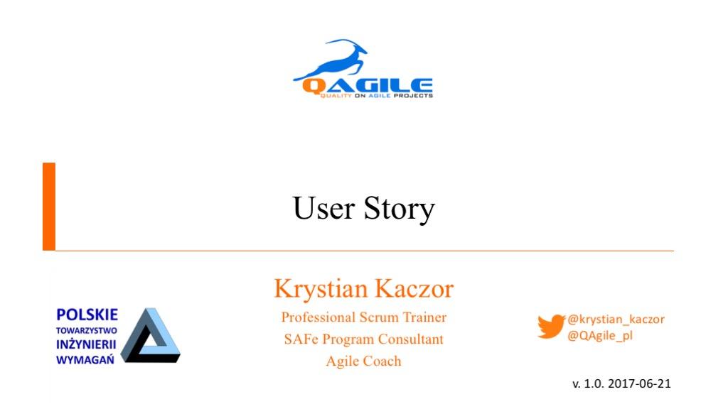 User Story — prezentacja ze spotkania dostępna