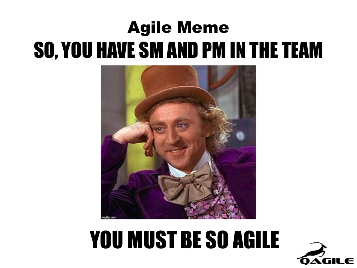 agile meme scrum master project manager wonka