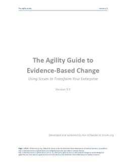 The Agility Guide to Evidence-Based Change 1.5
