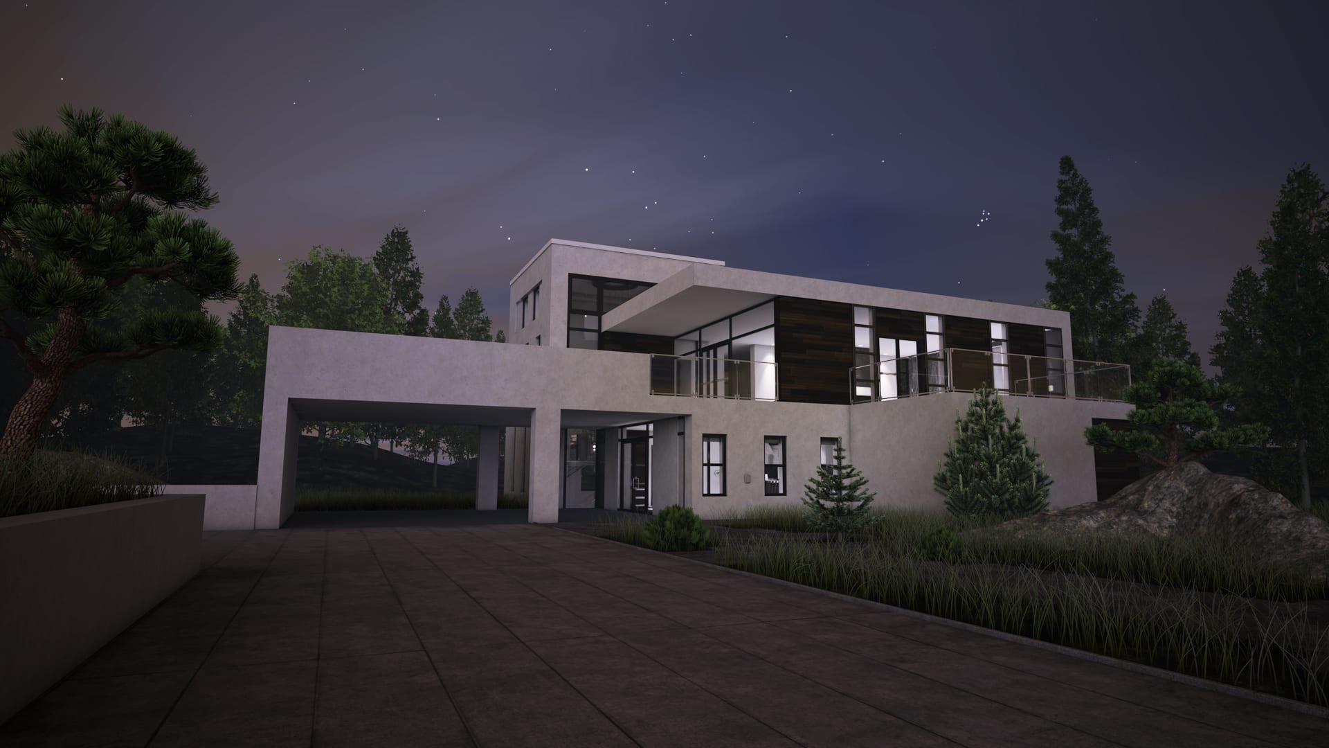 3D-Building-Exterior-Night