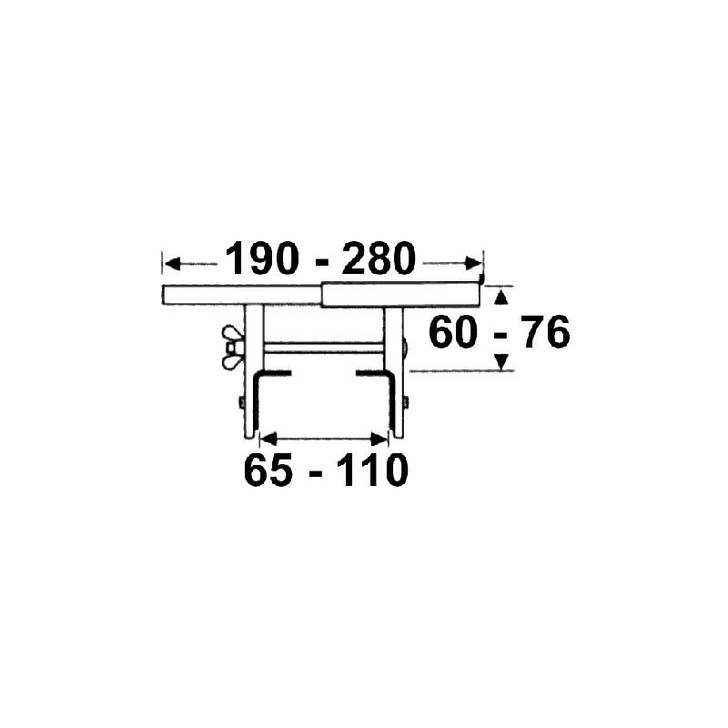 support tablette radiateur a pinces