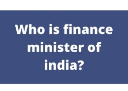 Who is finance minister of india