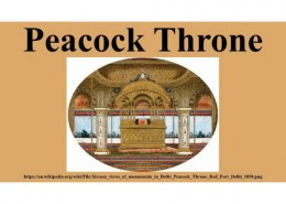 Peacock throne is associated with the name of ?