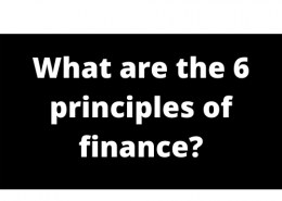 What are the 6 principles of finance?