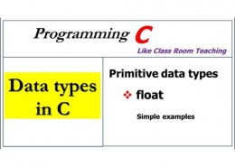 What are primitive data types?