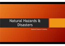 What's the difference between a hazard and a disaster?