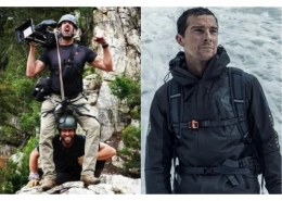 Name the leaders who will be seen guest-starring in a Man vs Wild episode with host Bear Grylls?
