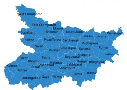 Which one is the largest district in Bihar by areawise?