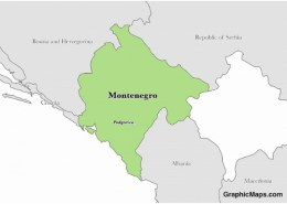 What is the capital of Montenegro?