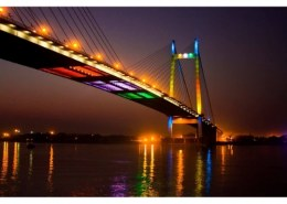 In which year the construction of Vidyasagar Setu was completed?