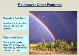 Primary rainbow is formed when light suffers?