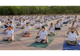 When was the first yoga day?