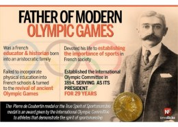 Who is the father of modern Olympics?