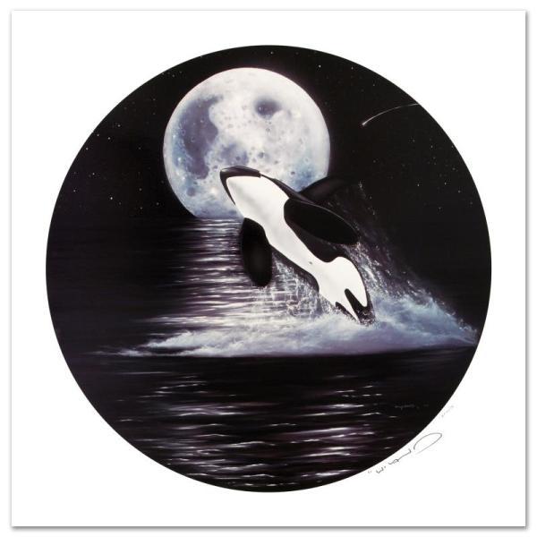 """""""orca Moon"""" Impressionism - Wyland 208214"""