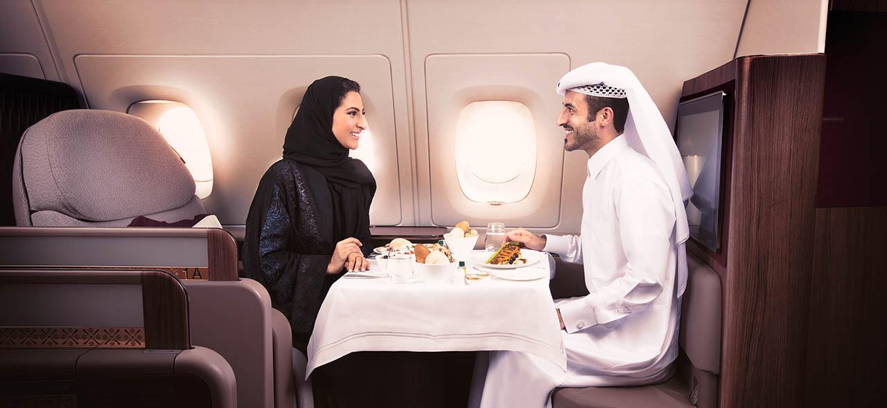 first class qatar airways