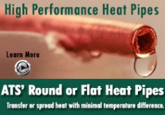 round or flat heat pipes for electronics cooling