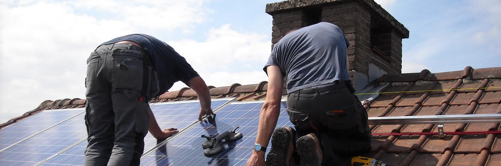 Bau Photovoltaik Solar Anlage